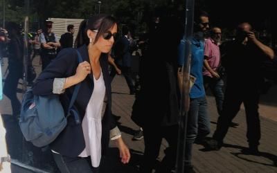 Marta Farrés abandonant els Jutjats de Sabadell | Ràdio Sabadell