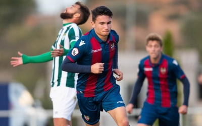 Aitor Pascual en un partit amb l'Atlético Levante la passada temporada. | Levante UD