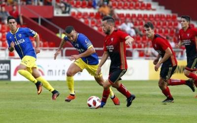 Romero, en un partit amb el Mirandés | Cedida