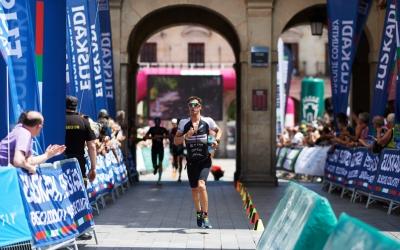Unes molèsties a l'isquiotibial van acabar perjudicant Blanchart a la cursa a peu. | Getty Images for Ironman
