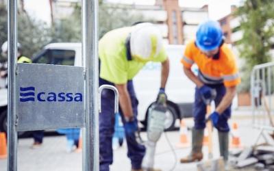 CASSA té en marxa obres de renovació del sistema de canonades d'aigua | Cedida
