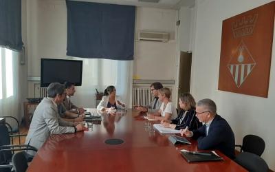 Imatge de la reunió mantinguda ahir a l'Ajuntament  Cedida