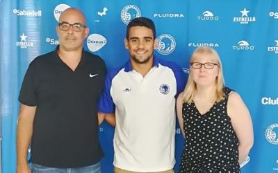 Jaume Marcé, el nedador Óscar Salguero i Dolors Luna han estat a l'acte de presentació. | Sergi Park