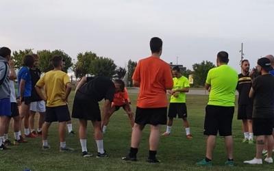 La plantilla del Grups Arrahona ha tornat als entrenaments, però durant la primera setmana, haurà de fer-ho fora del pavelló. | Twitter