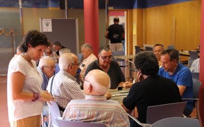 Marta Morell visita el centre cívic de La Concòrdia | Cedida