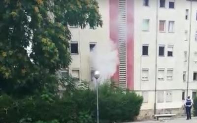 Imatge del pis incendiat/ Cedida AV Merinals