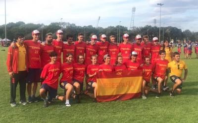 Selecció espanyola sub-20 d'ultimate mixt que avui s'enfronta a Letònia | Salesianos San Jose