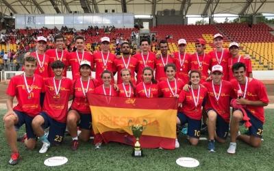 Plantilla de la selecció espanyola amb la medalla de plata assolida a Polònia | Twitter