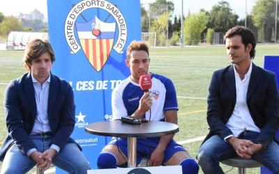 Manzanera, Garrós i Batlle, a la presentació d'aquesta tarda | Críspulo Díaz