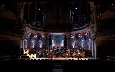 L'OSV, durant el concert de 'Papa Mozart'/ Orquestra Simfònica del Vallès
