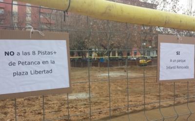 Aquesta és la zona a la plaça davant l'escola quan estava en obres | Pau Duran