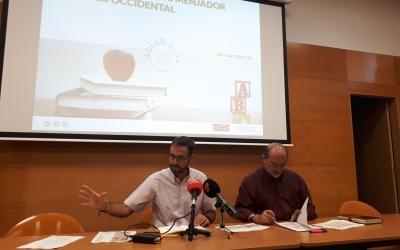 Ignasi Giménez i el conseller i regidor Manuel Robles/ Karen Madrid