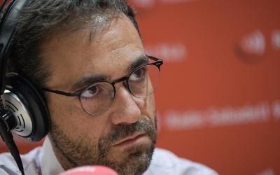 Ignasi Giménez, durant l'entrevista a Ràdio Sabadell/ Roger Benet