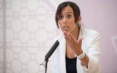 Marta Farrés, després de la Junta de Govern d'avui/ Roger Benet