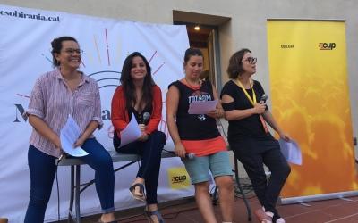 Esquerra a dreta: les diputades Natàlia Sànchez, Maria Sirvent, Sílvia Pagès i Eulàlia Reguant |CUP nacional