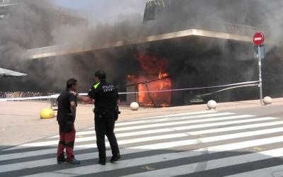 Incendi al mercat de Castellar | Cedida