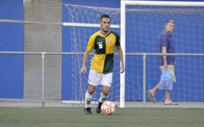 Jurgi Oteo en el partit de Copa Catalunya jugat a Sant Feliu | Críspulo Díaz