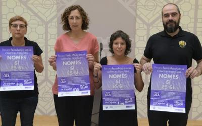 Els implicats en la campanya 'Només sí és sí'/ Roger Benet