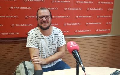 Sergi Segura als estudis de Ràdio Sabadell | Raquel García