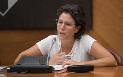 Marta Morell, portaveu de Podem, durant el ple d'avui | Roger Benet