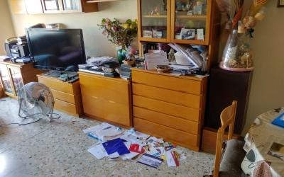 Interior del domicili del carrer Romeu després del registre de la Guàrdia Civil | Pere Gallifa