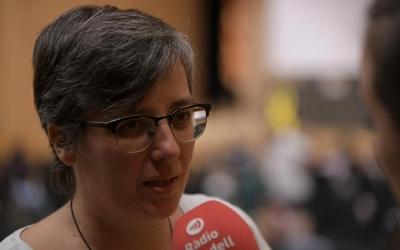 Mireia Boya durant l'entrevista a Ràdio Sabadell | Roger Benet