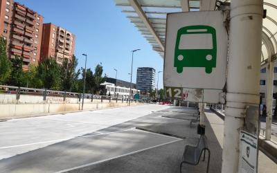 L'estació de busos de Sabadell estrena nova pavimentació | Pau Duran