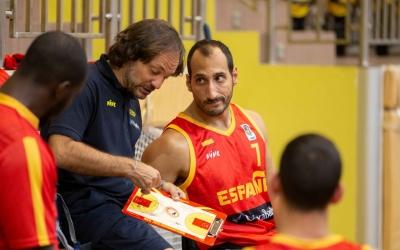 Trigo, dirigint un partit de la selecció durant l'Europeu | FEDDF