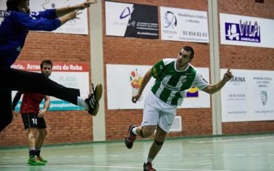 Arnau Xerta, en el partit de la primera jornada contra el Sant Cugat. | OAR Gràcia - Èric Altimis