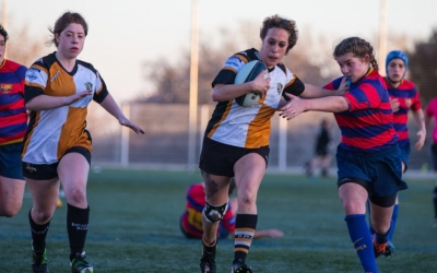 La capitana de l'equip, Montse Martín, en un partit de la temporada passada | Sabadell RC