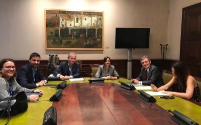 Farrés i gibert durant la Reunió a Madrid   Cedida