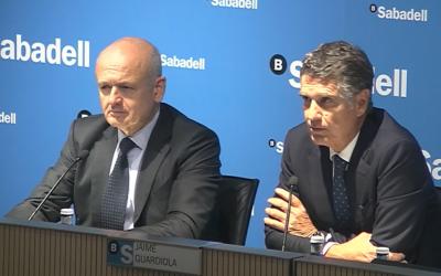 El director general de Banc Sabadell, Tomás Varela, i el conseller delegat, Jaume Guardiola | Cedida