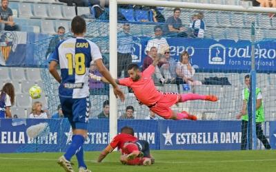 Ian Mackay ha estat triat per l'audiència de Ràdio Sabadell el millor arlequinat ahir contra l'Olot | Nuri Marguí (UEO)