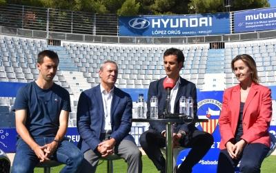 Lanzarote, López, Batlle i Navés, a la presentació d'avui | Críspulo Díaz