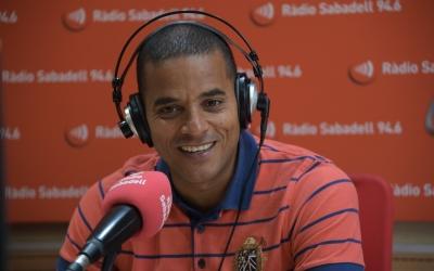Juvenal Edjogo-Owono aquesta tarda als estudis de Ràdio Sabadell | Roger Benet