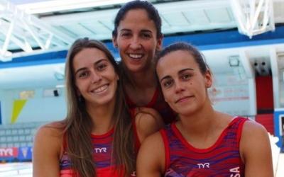 Bea Ortiz, Pili Peña i Olga Domènech, tres de les quatre ex del CNS que han aterrat enguany a Terrassa | Instagram