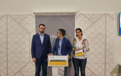 d'Esquerra a dreta, Santi Valls, Gabriel Fernández i Èlia Soriano-Costa | Ràdio Sabadell