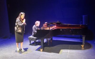 La cantant Marta Valero i el pianista Josep M. Almiron | Ràdio Sabadell