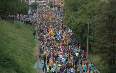 La Marxa Per la Llibertat entrant a Sabadell | Roger Benet