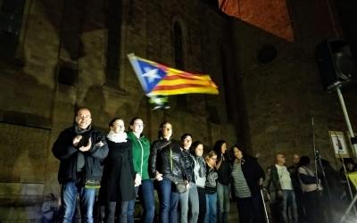 Familiars dels empresonats al finalitzar l'acte | Helena Molist