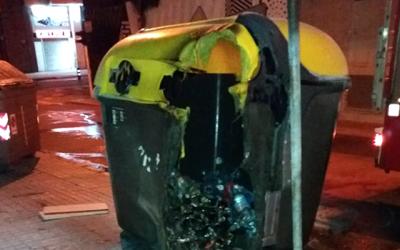 Contenidor cremat | Ajuntament de Sabadell