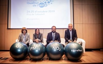 Els representants de les administracions, al Congrés de la Qualitat de l'Aire/ Generalitat