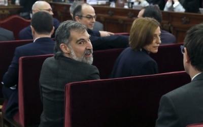El sabadellenc Jordi Cuixart, durant el judici de l'1-O | ACN