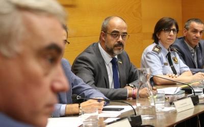 Miquel Buch, durant la reunió amb els alcaldes vallesans/ ACN