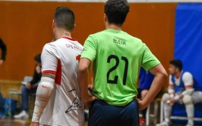 Aleix Navarro, en el partit de lliga contra el Pallejà | Futsal Pia