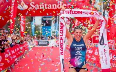 Laura Gómez ha guanyat per segon cop consecutiu la prova | Barcelona Triathlon