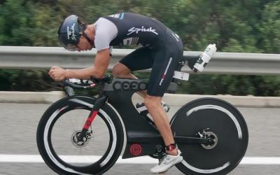 Blanchart durant la disputa de l'Ironman de Calella | triatlonchannel.com