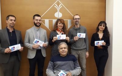 Representants municipals i de les entitats implicades en el Som Capaços/ Karen Madrid