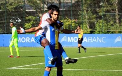 Forgas celebrant un gol a Prada de Moles contra l'Hércules | FC Andorra