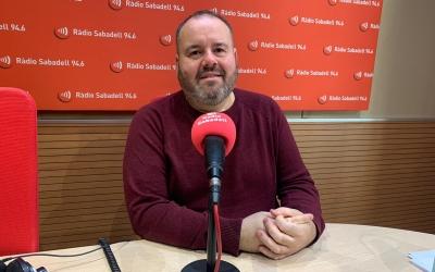 Joan Mena als estudis de Ràdio Sabadell | Mireia Sans